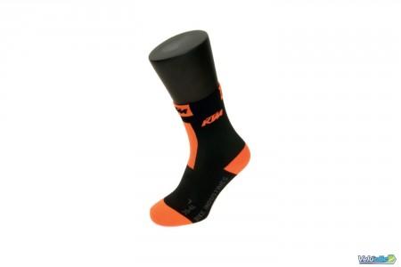 Ktm chaussettes basses compression noires/ orange