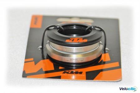 Ktm jeu de direction Prime noir /orange anodisé 1 1/8 - 1 1/4 ROUTE