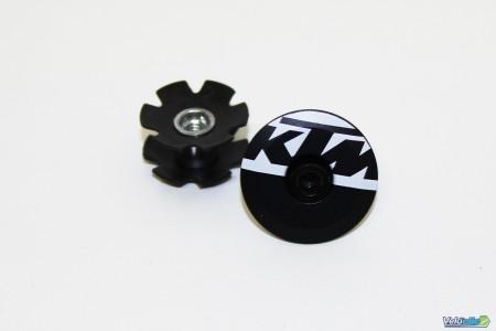 KTM Bouchon Noir Blanc
