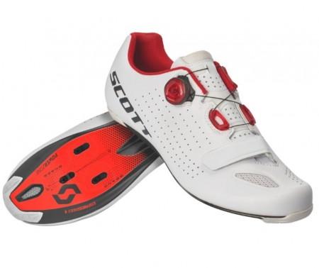 Chaussures Scott Road Vertec Boa Blanc / Rouge 2020