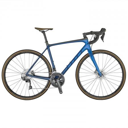 Vélo route Scott Addict 10 Disc bleu 2021