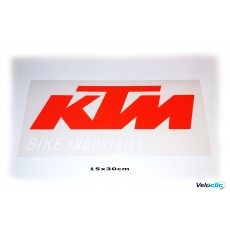 Ktm Bikes Industries autocollant officiel 27x60