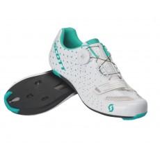 Chaussures Scott Road Comp Boa Dame Blanc / Tiurquoise 2020