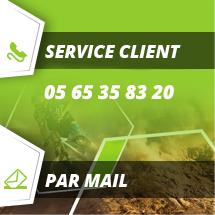 Contactez le service client au 05 65 35 83 20 ou par mail